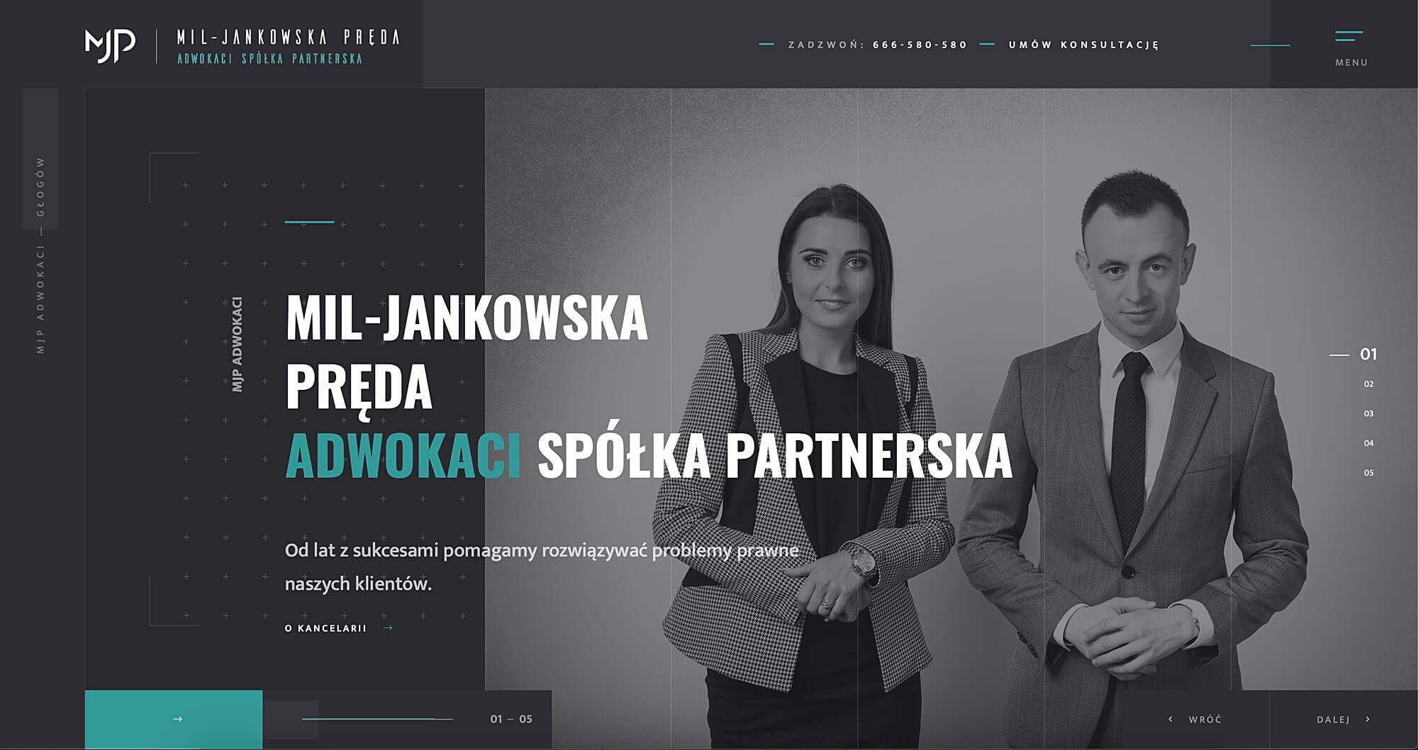 MJP Adwokaci - Adwokat Głogów - strona internetowa